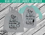 IRON On v197-B Pop the Bubbly I'm Getting a Hubby Ring Champagne T-Shirt Transfer *Specify Color Choice in Notes or BLACK Vinyl