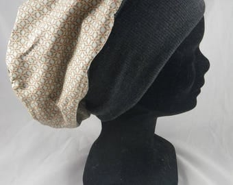Bas102 - Beige and grey chemo Hat