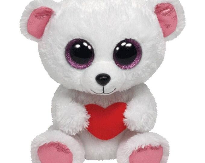 Ty Beanie Boos Sweetly - Polar Bear with Heart 36103