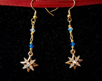 Gold Colored Starburst Dangle
