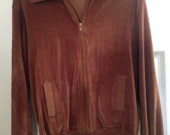 Cool 70's Oleg Cassini zip up sweater/sweatshirt