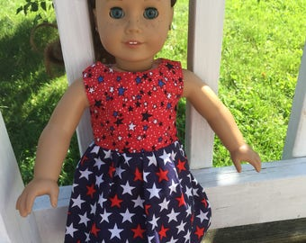 Patriotic handmade dress fo American Girl dolls