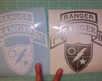 RANGER 1st BATTALION 2nd Battalion 3rd Battalion car decal tab scroll crest