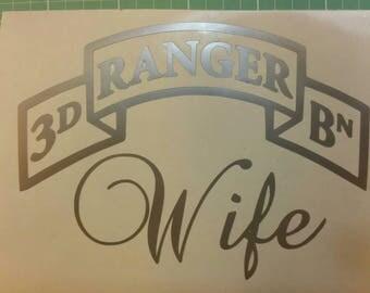 Ranger Wife Ranger Mom 1st BATTALION 2nd Battalion 3rd Battalion car decal