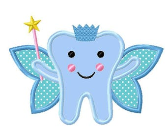 Tooth Fairy...Instant Download...Applique Machine Embroidery DESIGN NO. 128