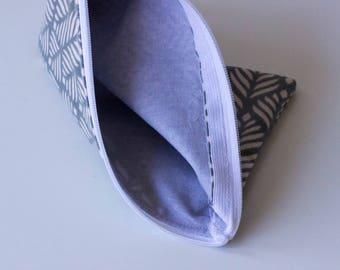 Spiga-waxed cotton clutch bag