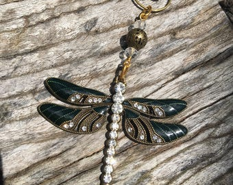 DRAGONFLY Christmas Ornaments | Rhinestone Christmas Ornament | Dragonfly Home Decor | Victorian Dragonfly Ornament