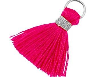 Tassels, tassel-3 pcs.-1.8 cm-Color selectable (color: pink)