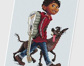 PDF Cross Stitch pattern - 0076_Miguel & Dante ( CoCo ) - INSTANT DOWNLOAD