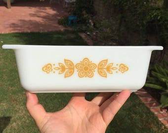 Pyrex Butterfly Gold 913 Loaf Pan