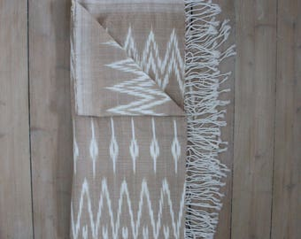 IKAT Blanket,  Handwoven throw, Ikat Quilt , Sand Ikat Throw , Sand Bed Cover , Sand Throw, wall hanging,Cambodian Blanket