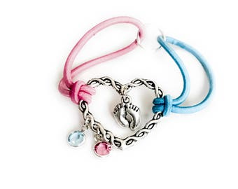 Miscarriage Baby Loss Infant Loss Swarovski Crystal Twisted Heart Bracelet