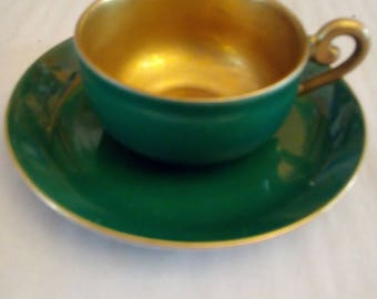 beautiful Mocha Cup 1950 Green gold Valkyrie S.P.. Meyer