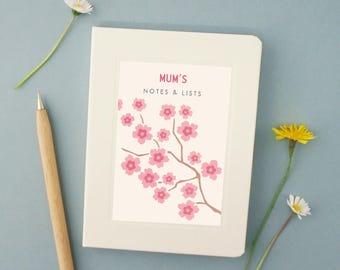 Personalised Blossom Notebook