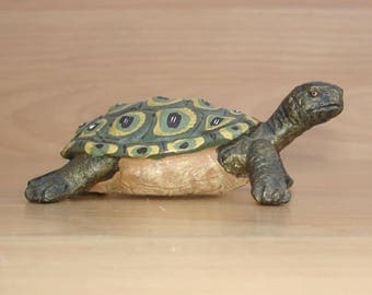 Beautiful turtle figure-presumably Hausser Elastolin at 1960