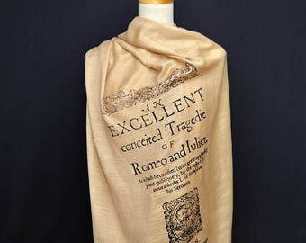 Romeo and Juliet Scarf/Shawl. William Shakespeare