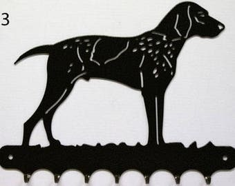 Hangs 26 cm pattern metal keys: Weimaraner dog
