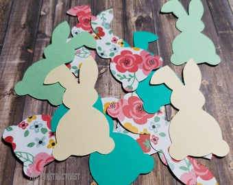 25 2-Inch 》BUNNY《 Confetti/Table Scatter/ Easter/Birthday/Rabbit/Photoshoot/Party Supplies/Decor