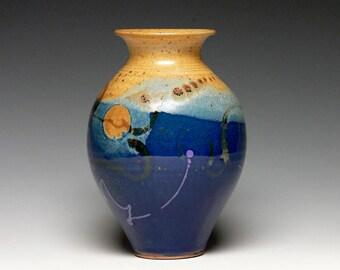 Stoneware Flower Vase, Pottery Vase, Hand Thrown Vase, Ceramic Vase