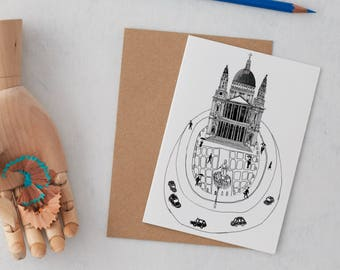 Saint Paul's Cathedral Greeting Card