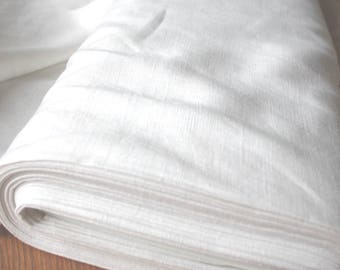 Pure 100% pre-washed Linen in White  home decor /dressmaking by the metre
