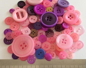 Mix of 100 buttons of various sizes (Ref.MIX42/2)