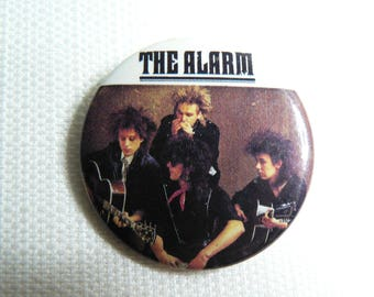 Vintage 80s The Alarm Pin / Button / Badge (Date Stamped 1984)