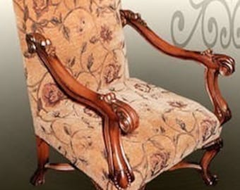 Baroque Armlehner Chair antique style MoCh00111