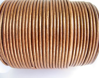 4 m leather cord 2mm copper quality sup