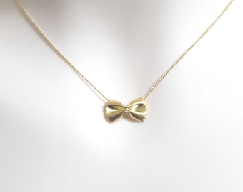 Modern, Dainty, Pasta, Gold, Silver, Necklace, Ribbon, Necklace, Lovers, Friends, Sister, Gift, Accessory, Jewelry
