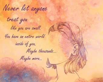 Inspirational Quote Encouragement Colourful Abstract Watercolour