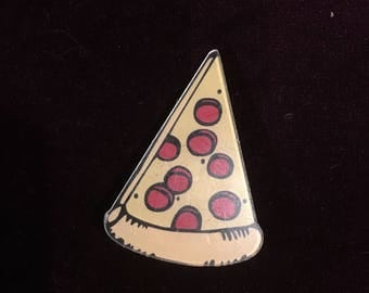 FUnky fast food pizza cheese snacks food deco lover brooch pin badge quirky kitsch