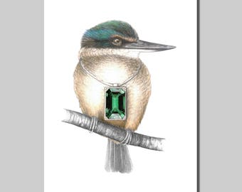 Kingfisher with Pendant