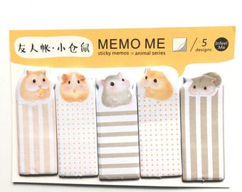 Cute hamster page markers