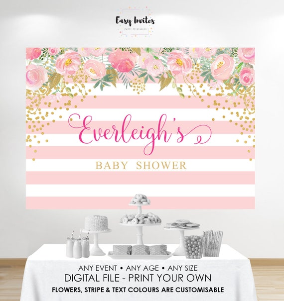 Poster Weights Etsy: Baby Shower Backdrop Baby Shower Back Drop Baby Shower