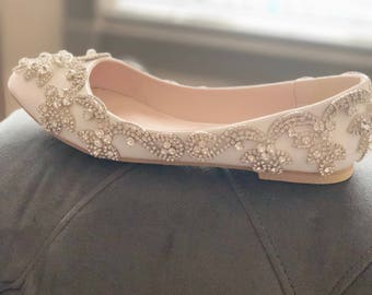 Wedding bridal shoes-crystal shoes-bridal shoes-flats-pumps