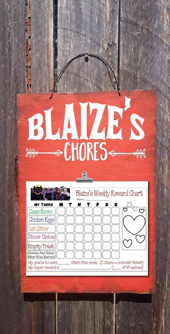 chore chart, chore board, kids chore chart, chore list, personalized kids chore chart