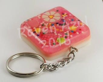 Pink Candy Sprinkle Key Chain