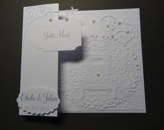 Wedding invitation - vintage car theme