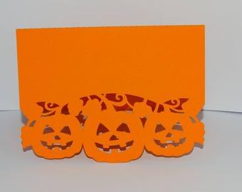 Curly pumpkin Halloween card