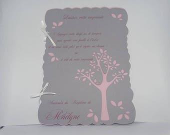 Booklet christening fingerprint tree