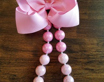 Ombre Pink Chunky Necklace