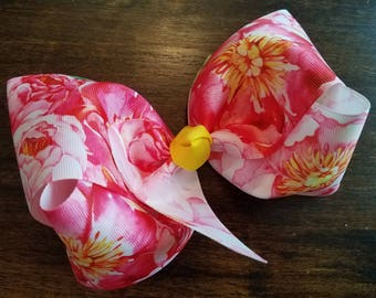 Large Spring Floral Bow
