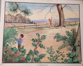 1950's Print 'Nid-Nod's Mistake' -(54x44cm)