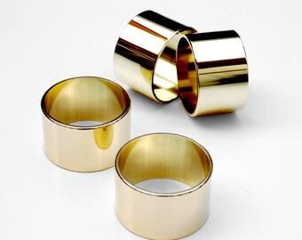 NAPK 04 / napkin holder / polished / brass / set of 4