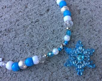 Snow snow frozen necklace snowflake necklace