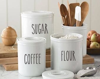 Kitchen canisters | Etsy
