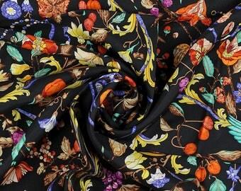 """HERMES SCARF Silk """"Pierres d'Orient et d'Occident"""" by Zoe Pauwels Vintage 90cm Carre 100% Auth"""