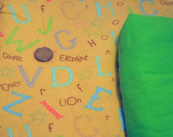 Clearance Fabric! ~ Jungle Words Baby Fabric ~ Alphabet Letters *Store Closing Sale*