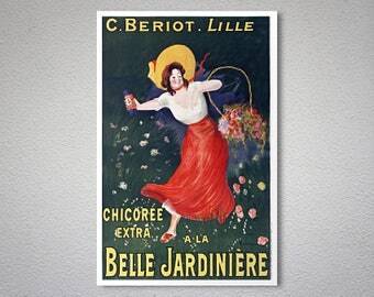 C. Beriot, Lille Belle Jardiniere Vintage  Travel Poster - Poster Paper, Sticker or Canvas Print / Gift Idea